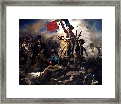 Liberty Leading The People During The French Revolution Framed Print by War Is Hell Store