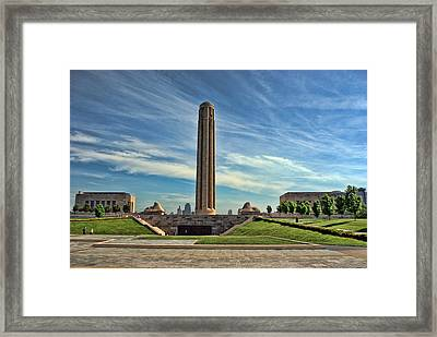 Liberty Memorial Monument And National World War 1 Museum Framed Print