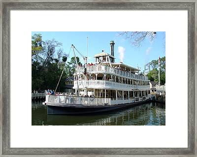 Framed Print featuring the photograph Liberty Riverboat by David Nicholls