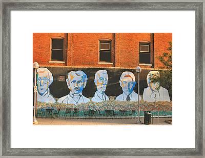 Liberty Street Mural Framed Print