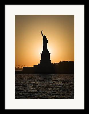 Goddess Of Liberty Framed Prints
