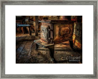 Liberty Wood Stove Framed Print by Lois Bryan