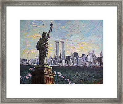 Liberty Framed Print by Ylli Haruni