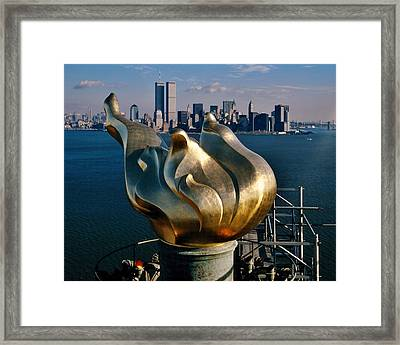 Liberty's Flame Framed Print by Benjamin Yeager
