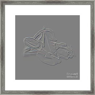 Libra Engraving Framed Print by Christian Simonian