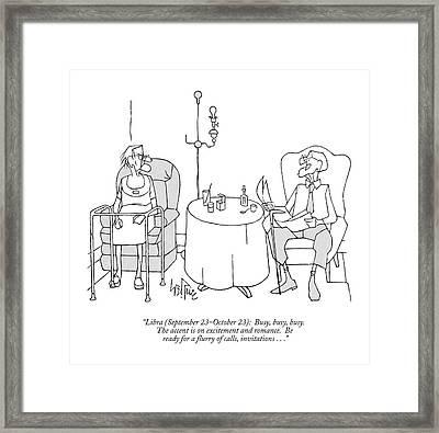 Libra Framed Print by George Price