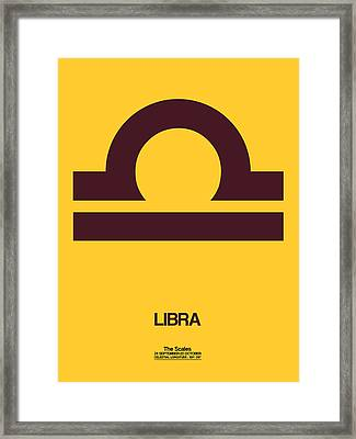 Libra Zodiac Sign Brown Framed Print
