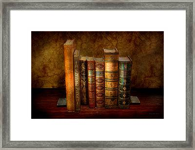 Librarian - Writer - Antiquarian Books Framed Print by Mike Savad