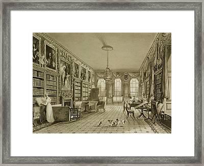 Library As Sitting Room, Cassiobury Framed Print