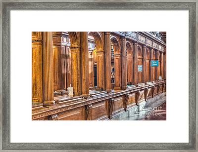 Library Book Return I Framed Print by Clarence Holmes