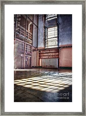Library Cage Framed Print by Andrew Brooks