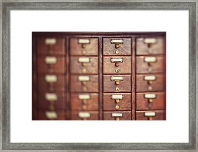 Framed Print featuring the photograph Library Case by Heather Green