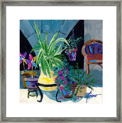 Library Courtyard-rhodes Old Town Framed Print