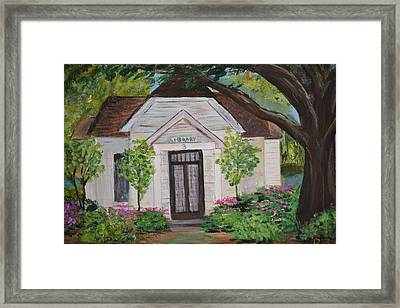Framed Print featuring the painting Library by Debbie Baker
