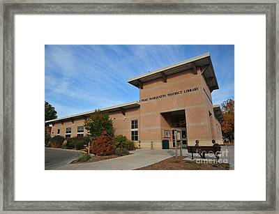 Library In Clare Michigan Framed Print by Terri Gostola