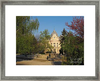 Library In Ruse Bulgaria Framed Print by Kiril Stanchev