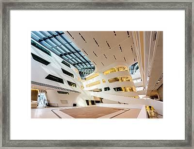 Library Interior 2  Zaha Hadid Wu Campus Vienna  Framed Print by Menega Sabidussi
