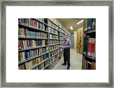 Library Framed Print by Jim West
