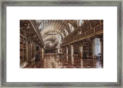 Library Mafra Framed Print