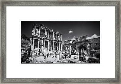 Library Of Celsus - Ephesus Framed Print