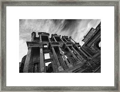 Library Of Celsus At Ephesus Framed Print