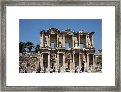 Library Of Celsus In Ephesus Framed Print