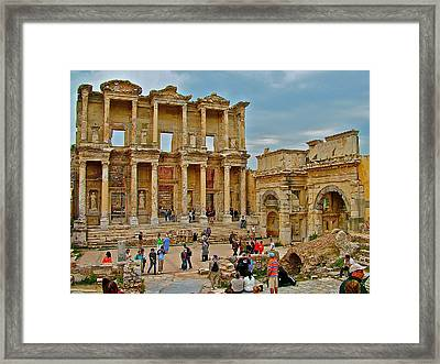 Library Of Celsus In Ephesus-turkey Framed Print