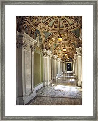 Library Of Congress Hallway Washington Dc Framed Print