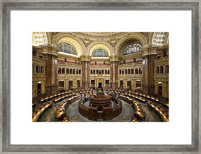 Library Of Congress Framed Print by Mountain Dreams