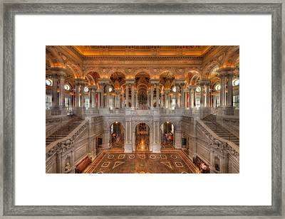 Library Of Congress Framed Print by Steve Gadomski