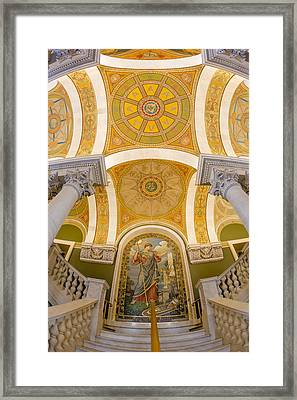 Library Of Congress Framed Print by Susan Candelario
