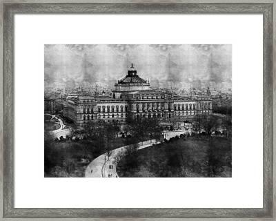 Library Of Congress Washington Dc 1902 Sketch Framed Print