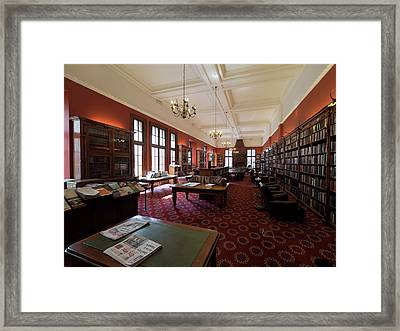 Library Of The Rand Club, Loveday Framed Print