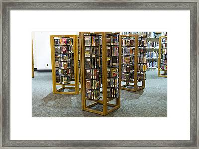 Library Of Vcr Tapes Framed Print by Devinder Sangha