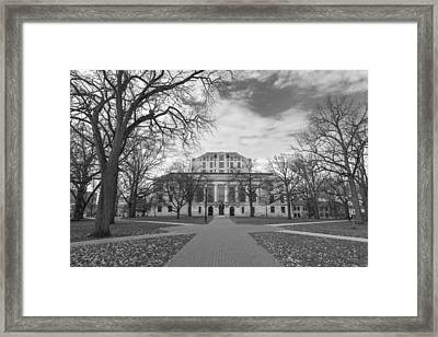 Library Ohio State University Black And White  Framed Print by John McGraw