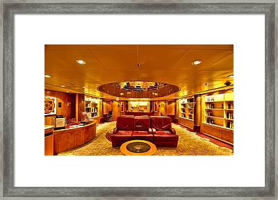 Library On Royal Caribbean Adventures Of The Seas Framed Print