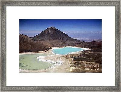 Licancabur Volcano And Laguna Verde Framed Print by James Brunker