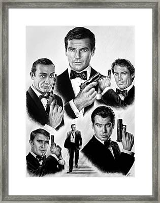 Licence To Kill  Bw Framed Print