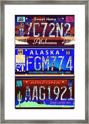 License Plate Framed Print by Lanjee Chee