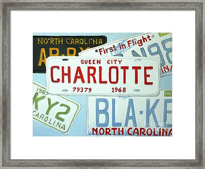 License Plates Framed Print by Stacy C Bottoms
