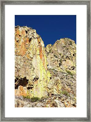 Lichen Covered Rock In Kings Canyon Framed Print