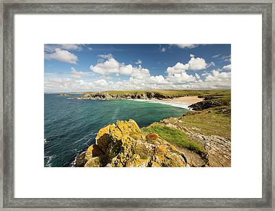 Lichen Covered Rocks Framed Print by Ashley Cooper