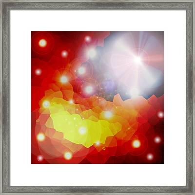 Lichtkristalle Framed Print by Ramon Labusch
