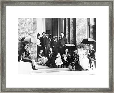 Lick Observatory Staff And Family Framed Print by Emilio Segre Visual Archives/american Institute Of Physics