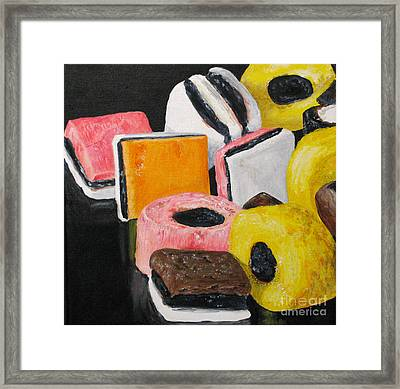 Licorice Candy Framed Print by Nancie Johnson