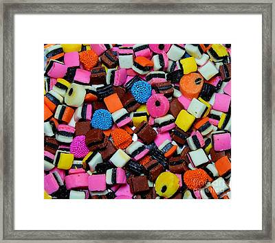 Licorice - Candy - Sweets - Treats Framed Print