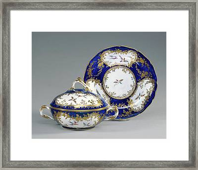 Lidded Bowl And Dish Écuelle Ronde Et Plateau Rond Framed Print by Litz Collection