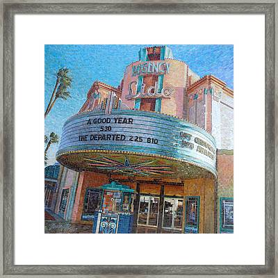 Framed Print featuring the painting Lido Theater by Mia Tavonatti