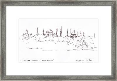 Lido View Serenity Blue Mosque Framed Print by Valerie Freeman