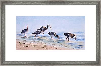 Lido Waders Framed Print